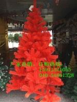 红色圣诞树